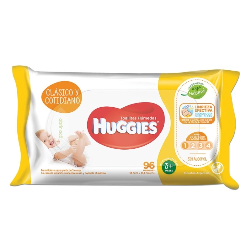 HUGGIES  TOALLAS HUMEDAS CLASSIC X96