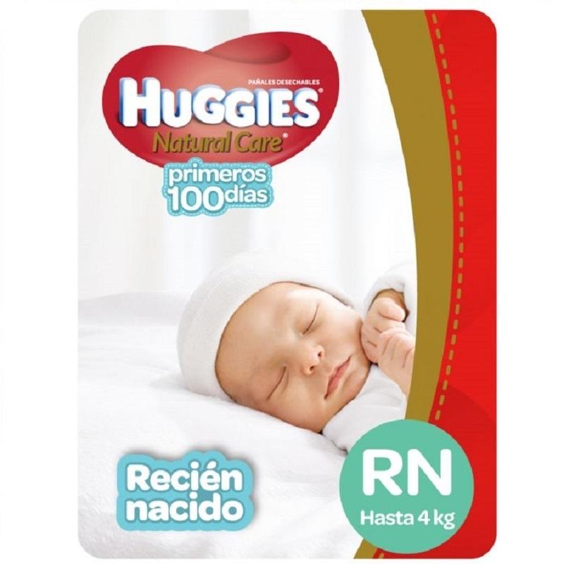 HUGGIES  NATCARE RECIEN NACIDO X 17 un