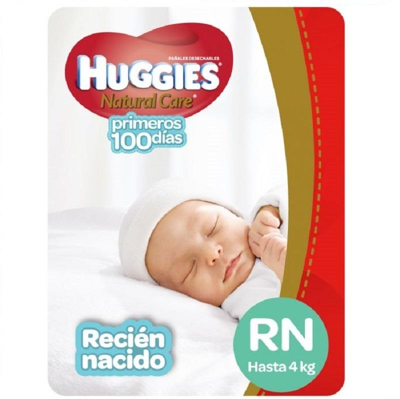 HUGGIES  NATCARE RECIEN NACIDO X 34 un