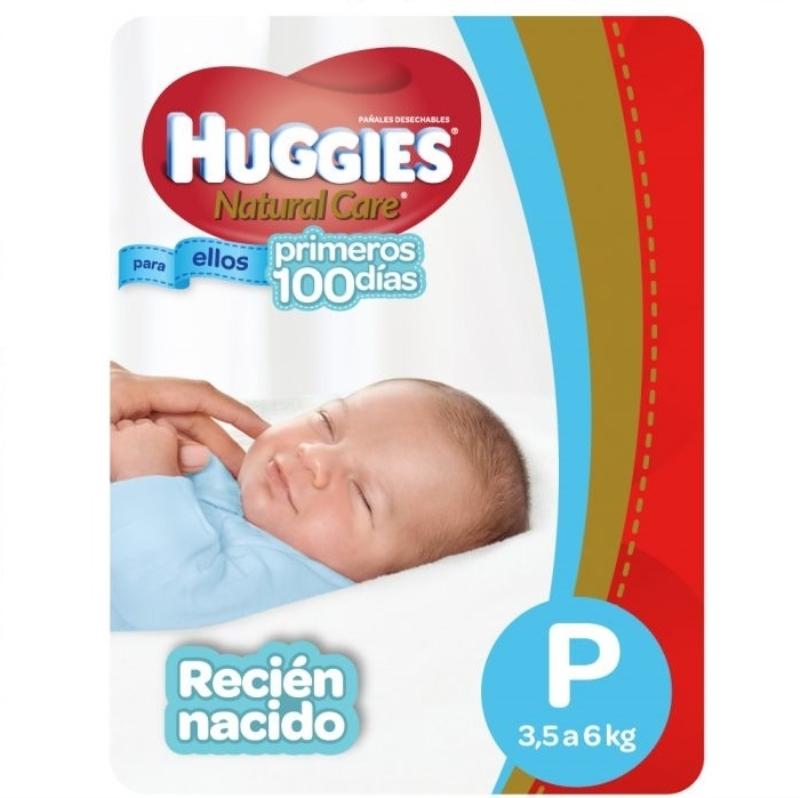 HUGGIES  NATCARE RECIEN NACIDO PEQUELLOS X 17 un