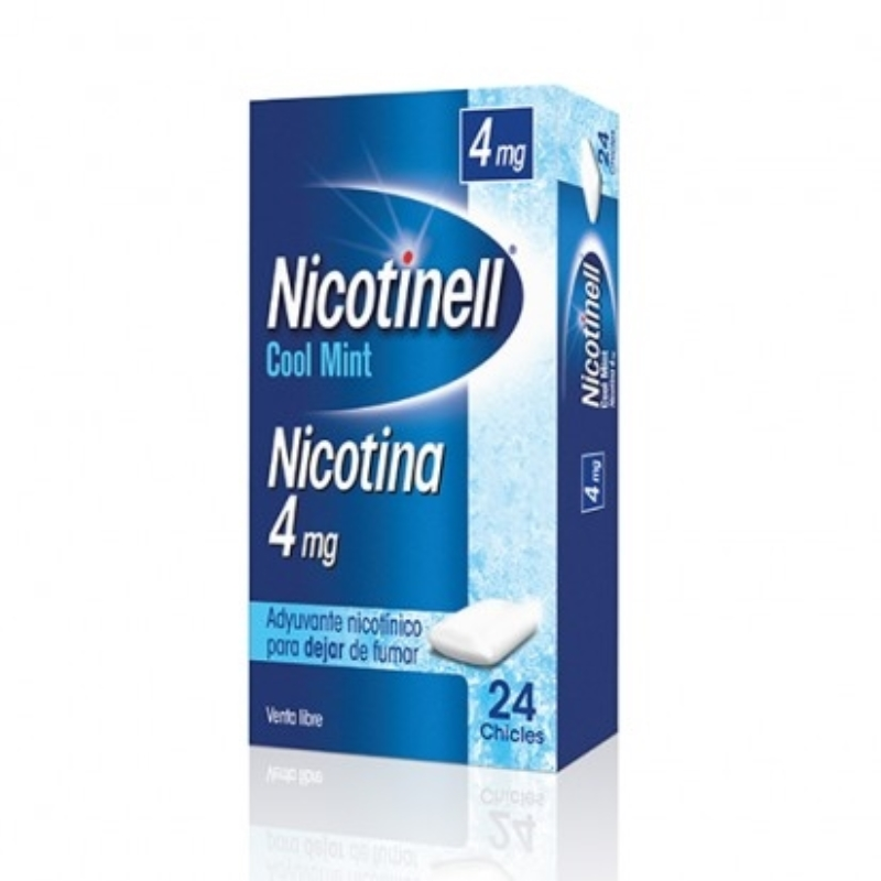 NICOTINELL GUMS COOL MINT 4 MG X 24 UN