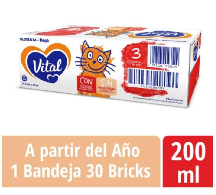 VITAL 3 BRICK 200ML X 30 U.