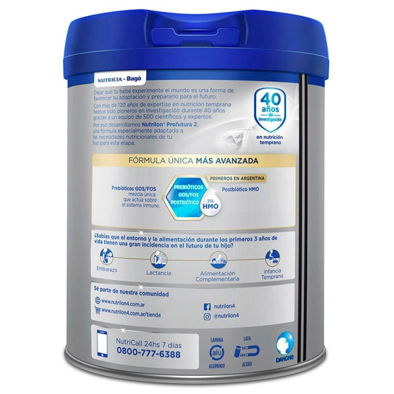 NUTRILON PROFUTURA 2 TARRO X 800 gr
