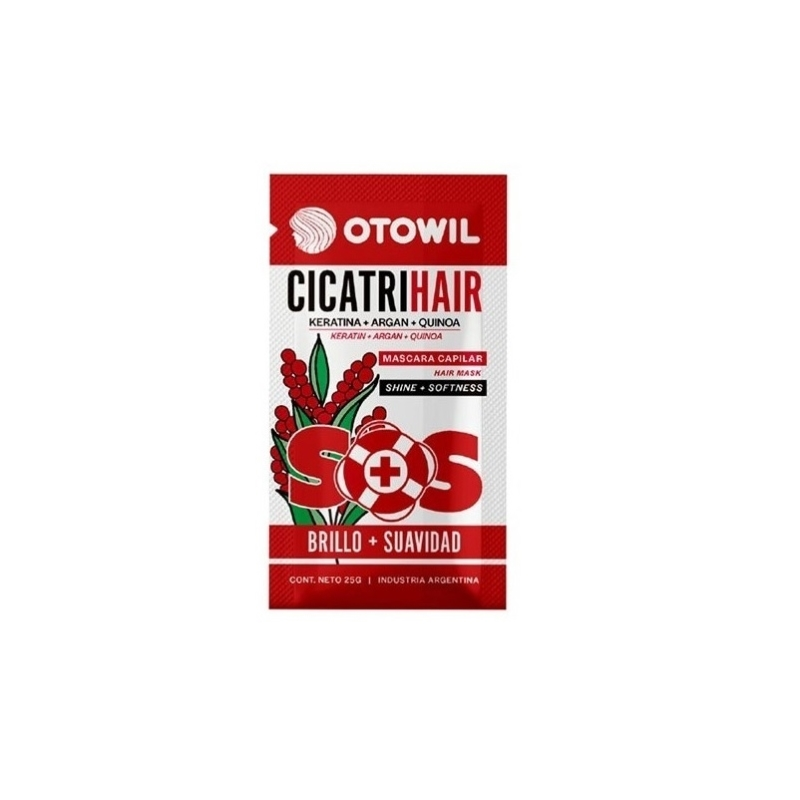 OTOWIL SOS CICATRIHAIR KERATINA+ARGAN+QUINOA SOBRE X 25 GRS