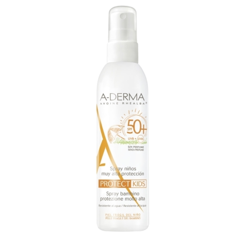 A-DERMA SPRAY PROTECT NIÑOS FPS 50+ X 200 ml