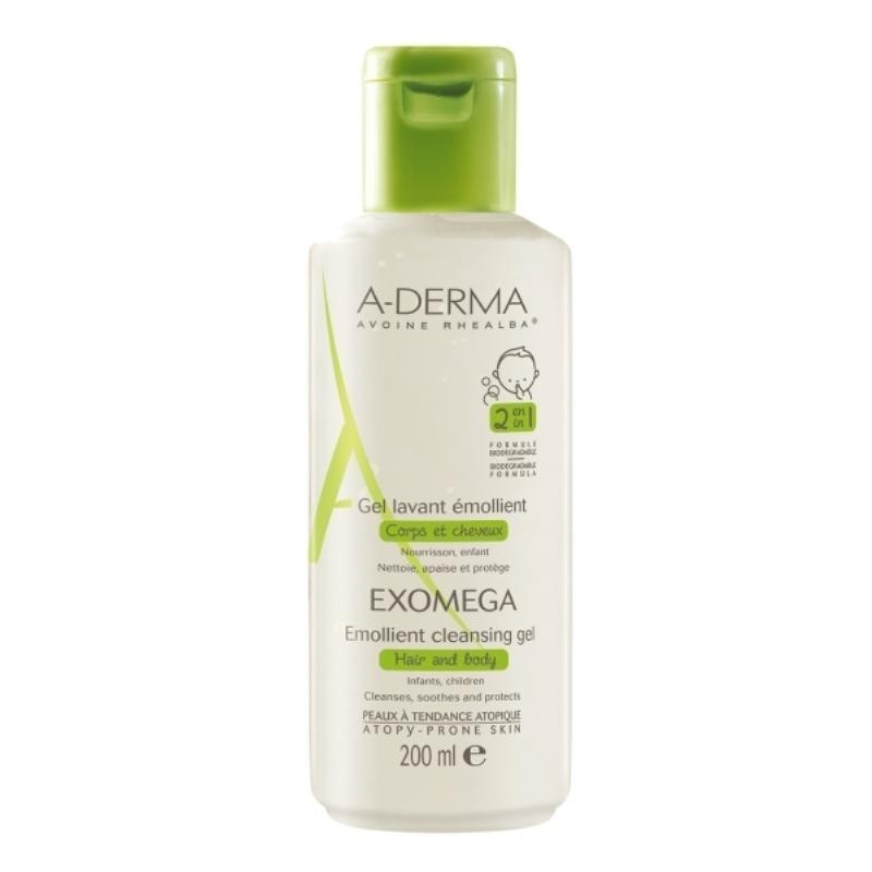 A-DERMA GEL EMOLIENTE EXOMEGA 2X1 X 200 ml