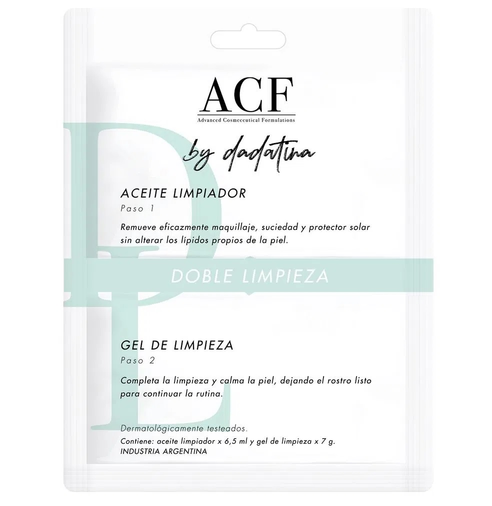 ACF BY DADATINA POUCH DOBLE LIMPIZA (ACEITE+GEL)