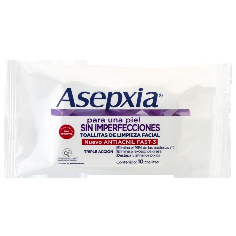 ASEPXIA  TOALLITAS X10 PIEZAS