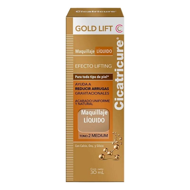 CICATRICURE MAQUILLAJE GOLD LIFT MEDIUM X 30 ml