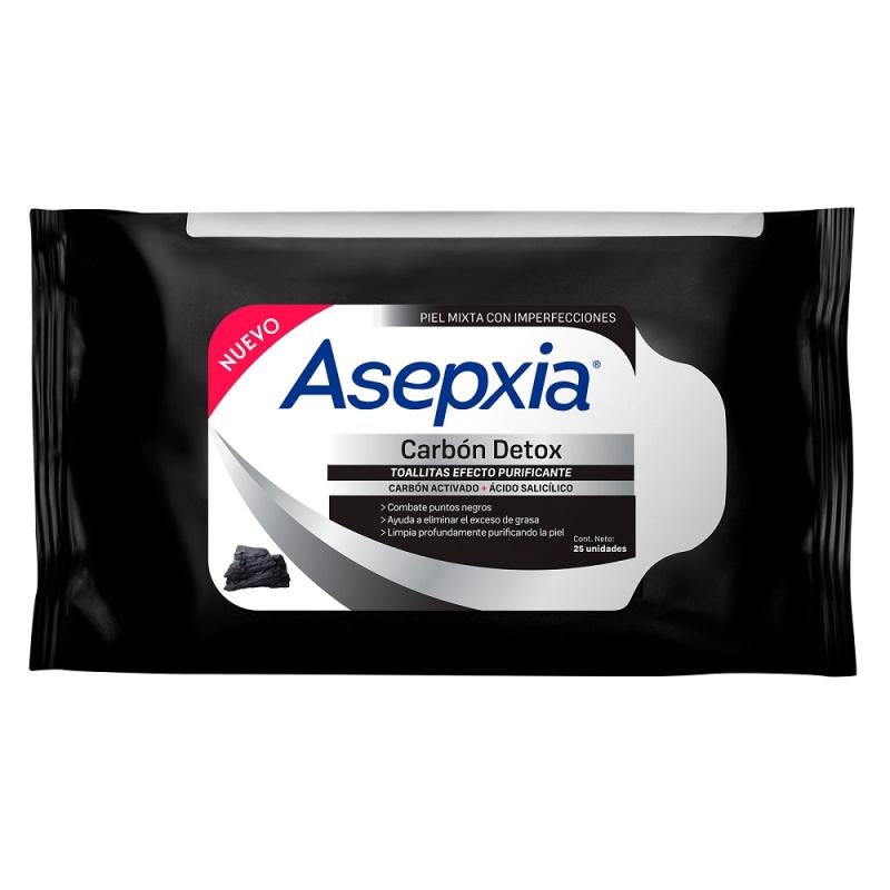 ASEPXIA TOALLAS CARBON DETOX X 25