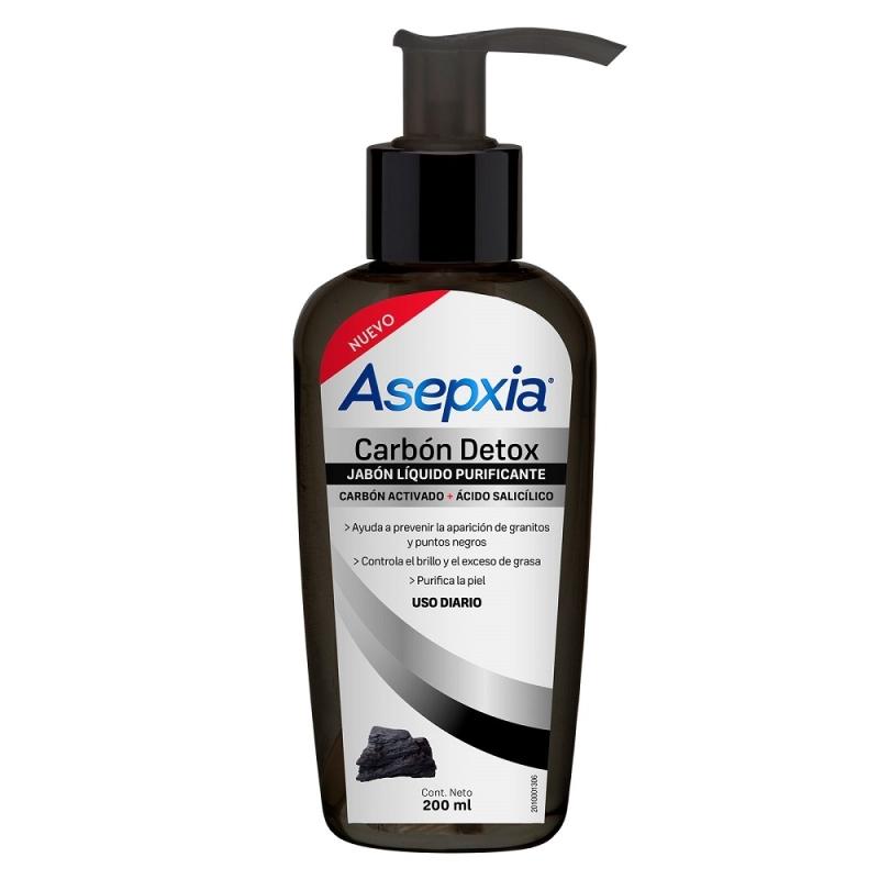 ASEPXIA JABON LIQUIDO CARBON DETOX X 200 ml