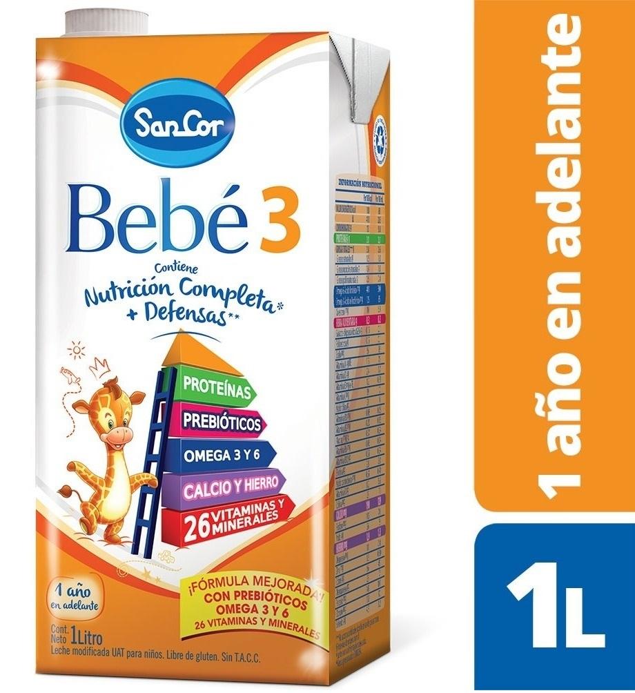 SANCOR BEBÉ 3 NUTRICIÓN COMPLETA LECHE EN LIQUIDA (1 A 3 años) X 1 lt
