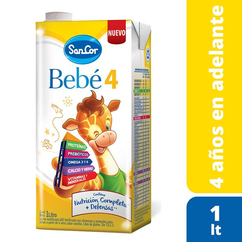 SANCOR BEBÉ 4 NUTRICIÓN COMPLETA LECHE EN LIQUIDA (+3 AÑOS) X 1 lt