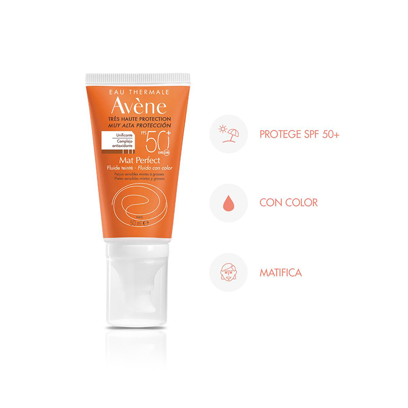 AVENE BLOQUEADOR CON COLOR MATE FPS 50 X 50 ml