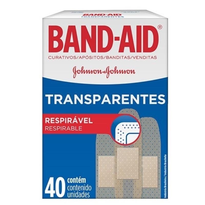 BAND AID BAND AID TRANSPARENTE APOSITOS X40