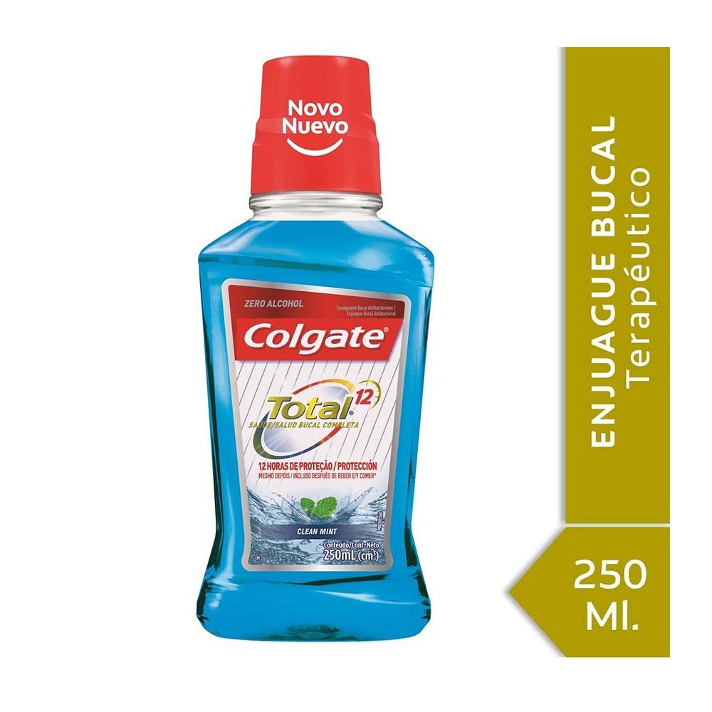 COLGATE ENJUAGUE BUCAL TOTAL12 CLEAN MINT X250ml