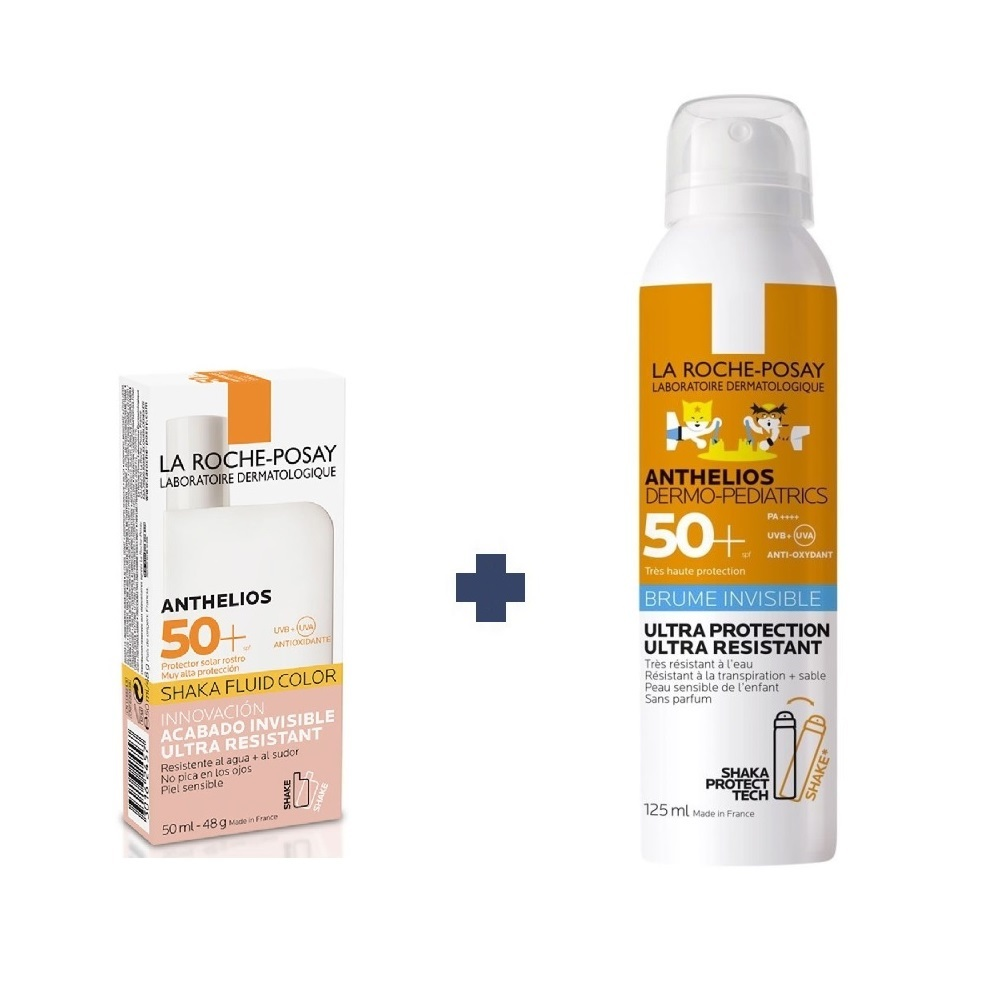 LA ROCHE POSAY ANTHELIOS ULTRA FLUIDO COLOR FPS 50 +PEDIATRIC BRUMA SHAKA
