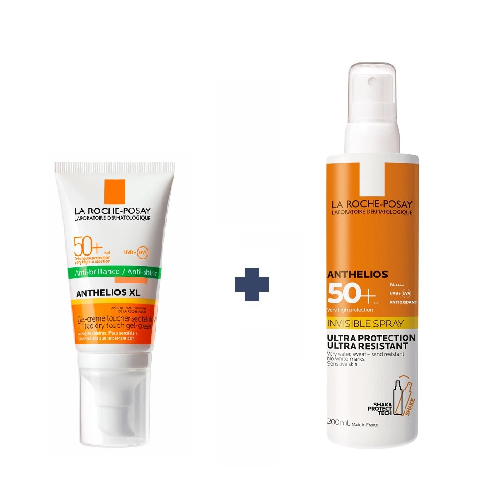 LA ROCHE POSAY COMBO ANTHELIOS XL FPS50 TOQUE SECO COLOR + ULTRA INVISIBLE FPS 50