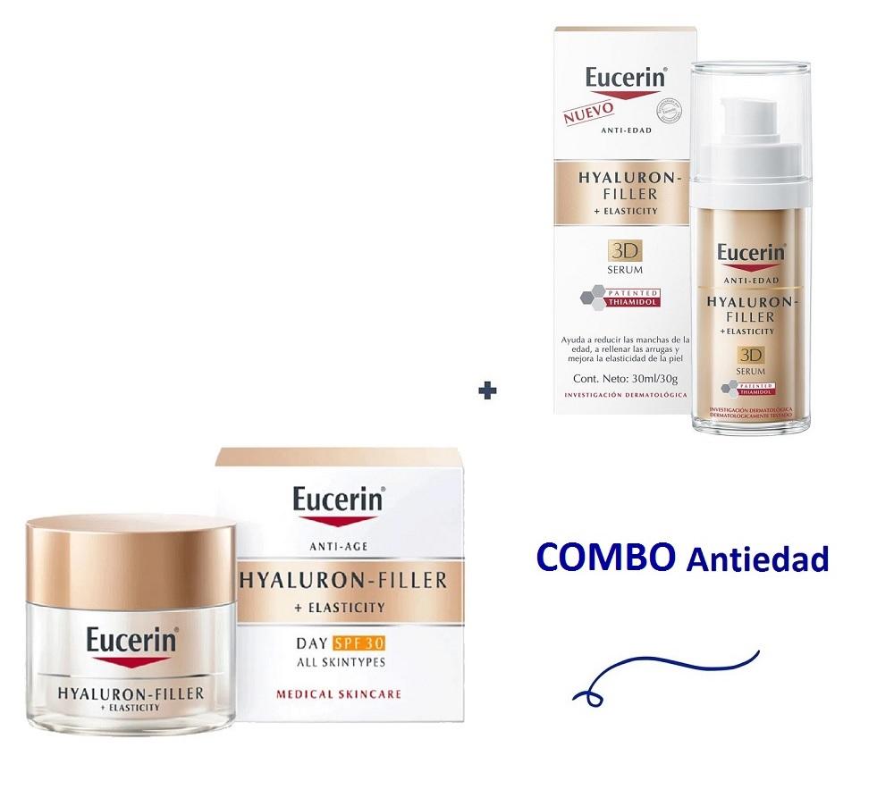 EUCERIN COMBO ANTIEDAD (HYALU ELASTY DIA +SERUM)